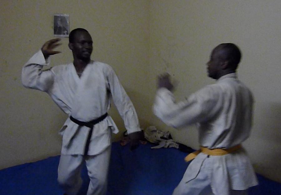 Training in my home dojo, Badalabougou