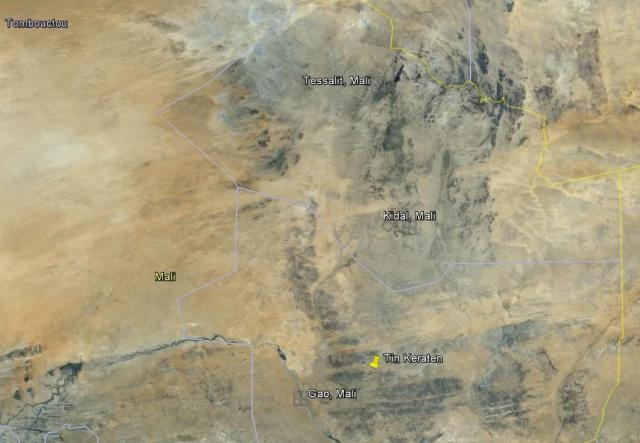 Adrar des Ifoghas map