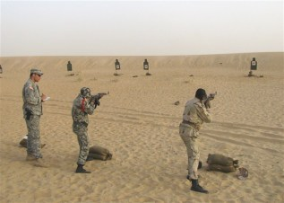 US and Malian troops on rifle range near Timbuktu, May 2009 (photo: Max Blumenfeld, JSOTF-TS/AFRICOM)