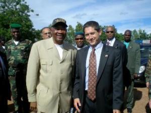 Todd Moss with President Amadou Toumani Touré in Mali