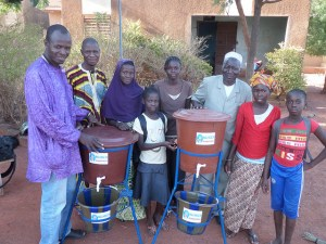 A neighborhood handwashing station in Bamako